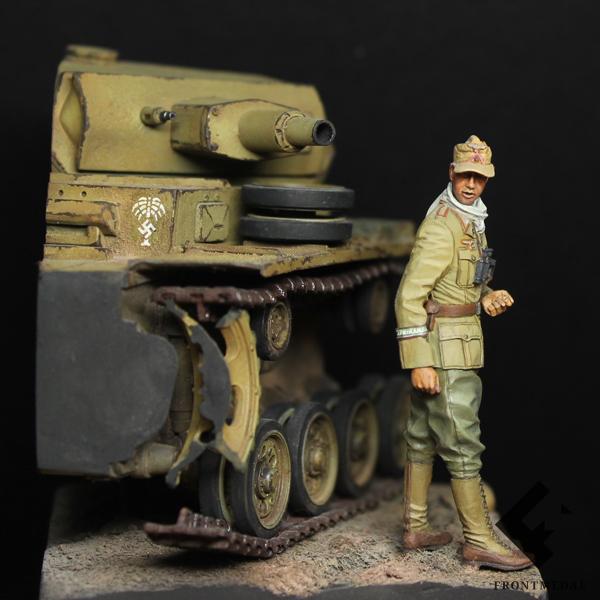 Офицер-танкист Немецкого Африканского корпуса (DAK)