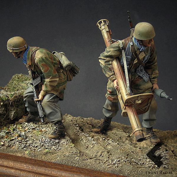 Парашютисты с противотанковым ружьем (Нормандия, 1944)