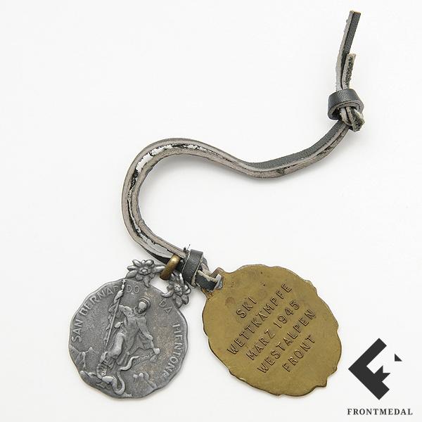 """Памятная медаль """"5.GEBIRGS DIVISION"""" и итальянский жетон"""