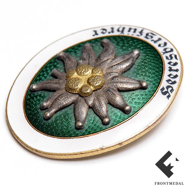 """Знак """"Горный проводник Вермахта"""" оформленный в багет"""