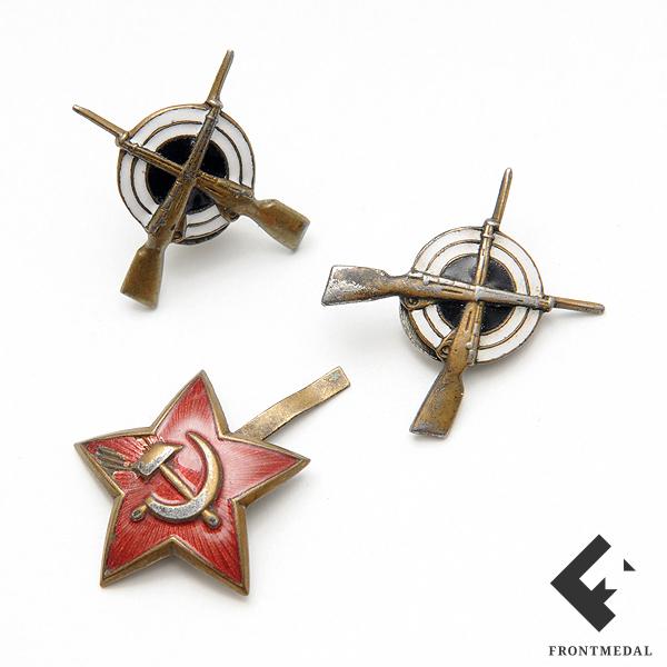 Лот эмблем для рядового состава пехоты РККА