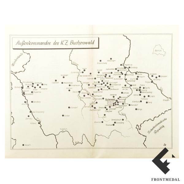Мемориальная брошюра с планом лагеря Бухенвальд