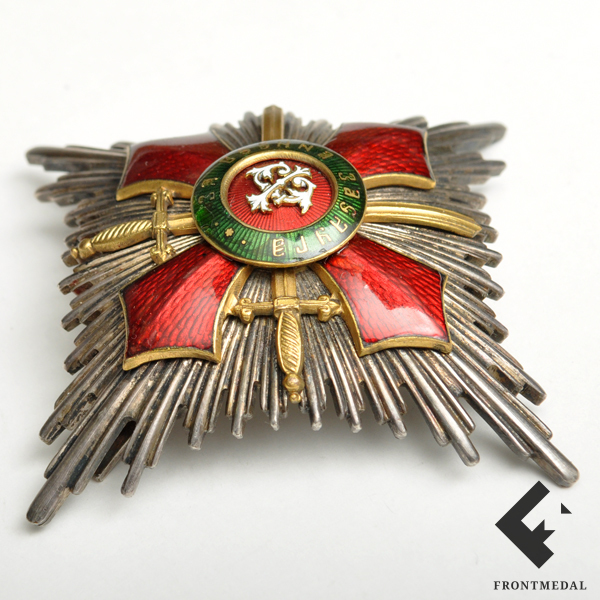 """Нагрудная звезда ордена """"За военные заслуги"""" с мечами"""