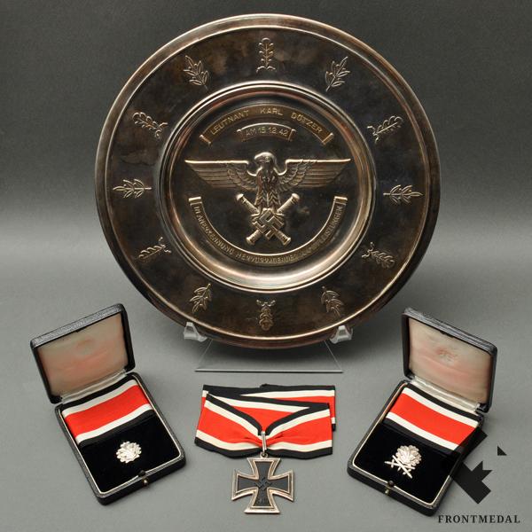 Георгиевский крест без степени и номера с лавровой ветвью