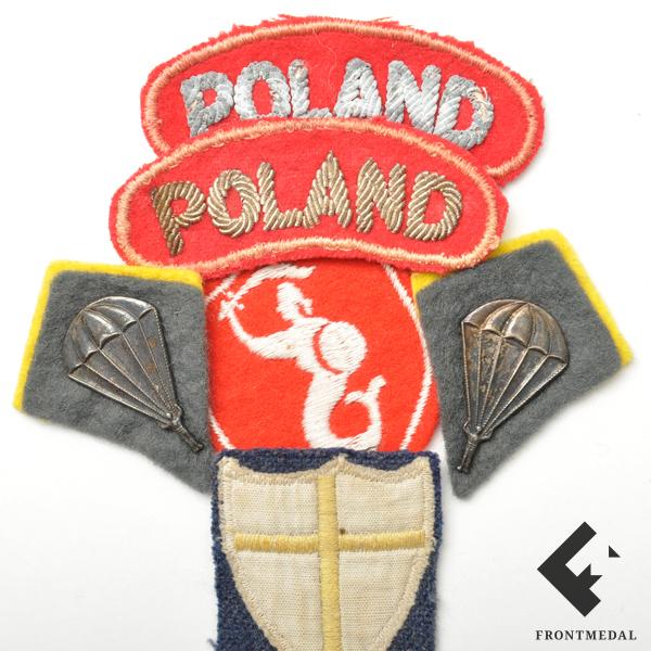 Лот знаков различия польских парашютистов в составе RAF