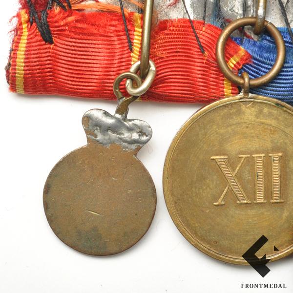 Орденская колодка Прусского офицера со знаком Св. Анны 4 ст.