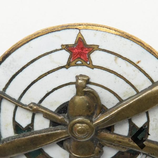 """Призовой знак """"За стрельбу ОСОАВИАХИМ"""" (1920-30 гг.)"""