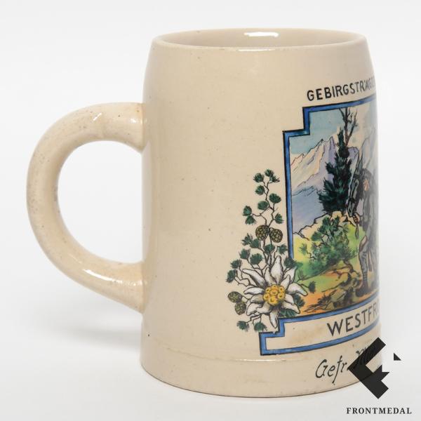 """Кружка """"GEBIRGSTRAGER - BATL.56, 3.KOMP. WESTFRONT 1939/40"""""""