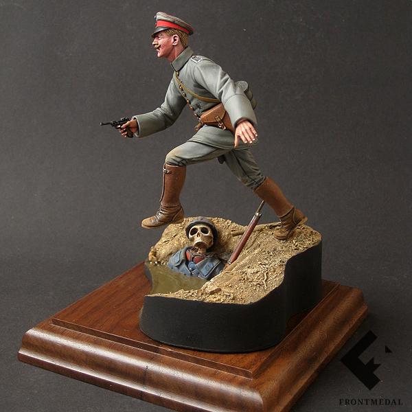 Прусский офицер во время атаки (Битва при Вердене, 1916)
